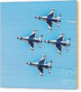 Thunderbirds Flying Over Wood Print
