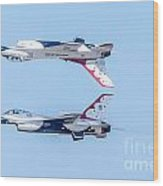 Thunderbirds In A Dangerous Formation Wood Print