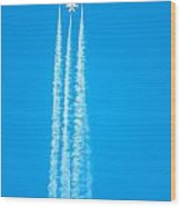 Thunderbirds In Air Formation  Wood Print