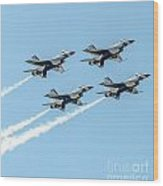 Thunderbirds In Formation Wood Print