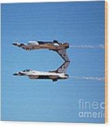 Thunderbirds Jet Team Perfect Symmetry Wood Print