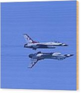 Thunderbirds Solos 6 Over 5 Inverted Wood Print