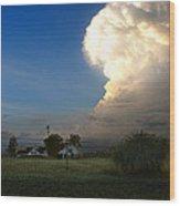 Thunderhead Wood Print