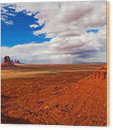 Thunderstorm Artist's Point Monument Valley Wood Print