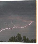 Thunderstorm At Young Arizona  Wood Print