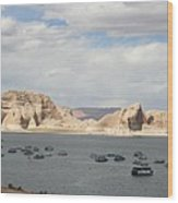 Thunderstorm Atmosphere Over Lake Powell Wood Print