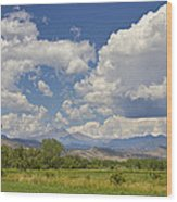 Thunderstorm Clouds Boiling Over The Colorado Rocky Mountains Wood Print