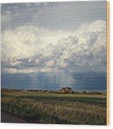 Thunderstorm On The Plains Wood Print
