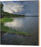 Thunderstorm On The Water Wood Print