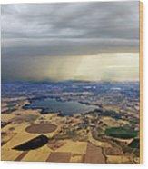 Thunderstorm Over Denver, Colerado Wood Print