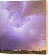 Thunderstorm Tidal Wave Wood Print