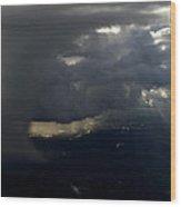 Thunderstorms And Rain Shafts II Wood Print