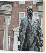 Thurgood Marshall Memorial Wood Print