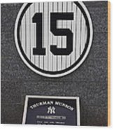 Thurman Munson Wood Print by Andrew Romer