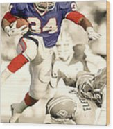 Thurman Thomas Wood Print