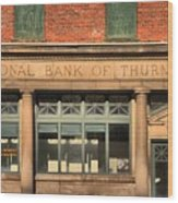 Thurmond Bank Of West Virginia Wood Print