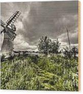 Thurne Wind Pump Wood Print
