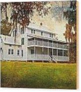 Thursby House Blue Springs Wood Print