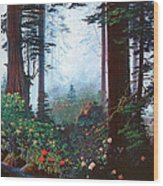 Thy Dwelling Place - Psalms 87 - Homage To The Brahms German Requiem  Wood Print