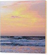 Topsail Island Pastel Sunrise Wood Print