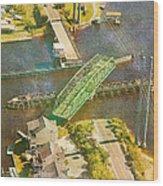 Ti Swingin' Swing Bridge Wood Print by Betsy Knapp