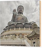 Tian Tan Buddha Wood Print