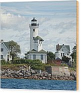 Tibbet's Point Lighthouse Lake Ontario Wood Print