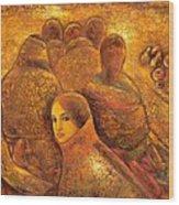 Tibet Golden Times Wood Print