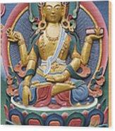 Tibetan Buddhist Deity Wood Print