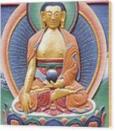 Tibetan Buddhist Deity Wall Sculpture Wood Print
