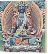 Tibetan Buddhist Temple Deity Wood Print by Tim Gainey