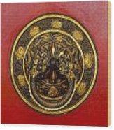 Tibetan Door Knocker Wood Print