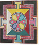 Tibetan Mandala Wood Print