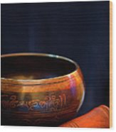 Tibetan Singing Bowl Wood Print
