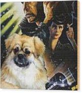 Tibetan Spaniel Art - Blade Runner Movie Poster Wood Print