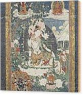 Tibetan Tanka With An Illustration Wood Print