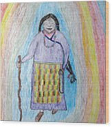 Tibetan Woman Wood Print