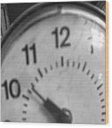 Tick Tock Goes The Clock 3 Wood Print