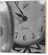 Tick Tock Goes The Clock Wood Print