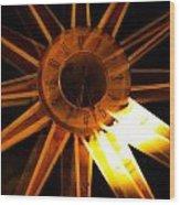 Tick-tock Star Clock Wood Print