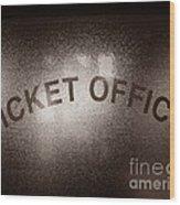 Ticket Office Window Wood Print