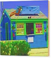 Ticket Shack Wood Print
