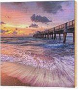 Tidal Lace Wood Print
