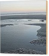 Tide Pools At Sunset Wood Print