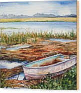 Tides Out Wood Print