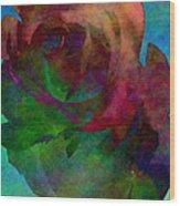 Tie Dye Rose Wood Print