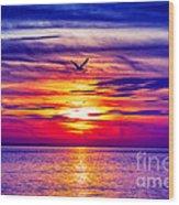 Tie Dyed Sky Wood Print