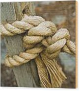 Tie The Knot Wood Print