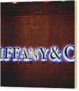 Tiffany And Co Wood Print