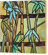 Stained Glass Tiffany Bamboo Panel Wood Print